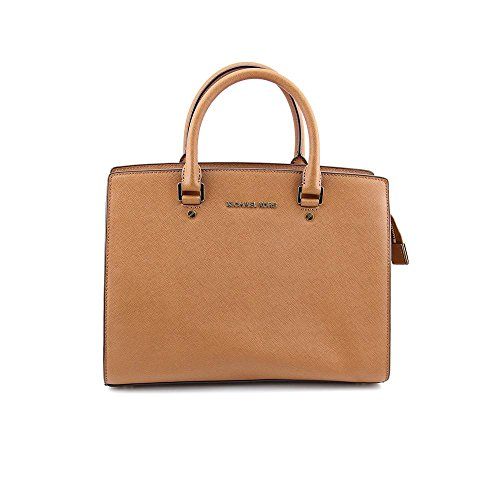 Michael Kors Selma Grommet Womens Leather Satchel
