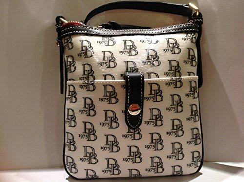 Dooney & Bourke Letter Carrier White/black Handbag