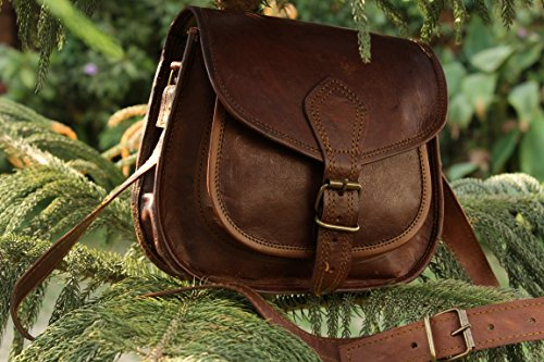 Hlc 9″ X 7″ Brown ,Genuine Leather Women's Bag /Handbag / Tote/purse/ Shopping Bag