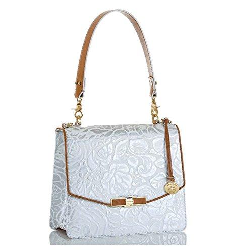 Brahmin Opelia Scultped Leather Satchel / Shoulder Bag Handbag
