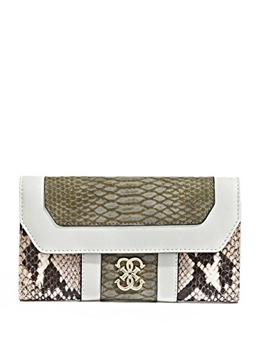 GUESS Women's Paxton Slim Clutch, SAND MULTI