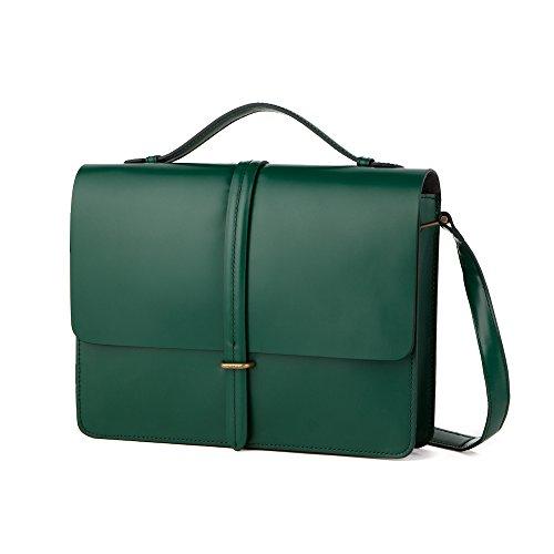 Customellow (gentee) classic modern satchel bag CFBX40201GR Navy ONE SIZE