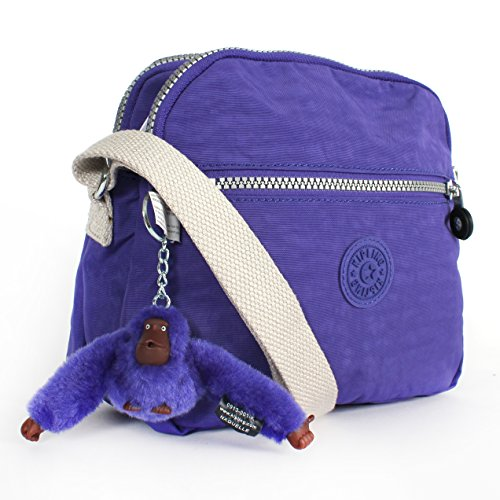 Kipling Keefe Shoulder Bag Crossbody Ice Pop Purple