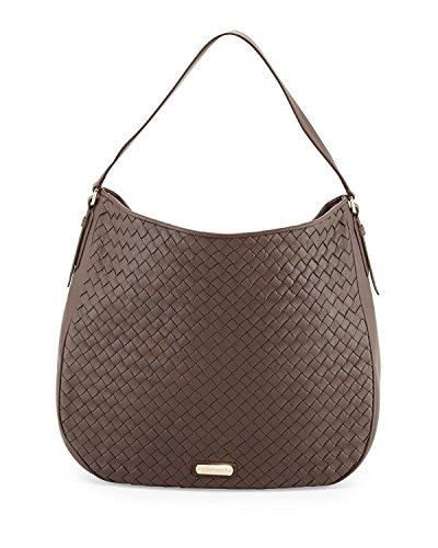 Cole Haan Junia Woven Leather Hobo Shoulder Bag, Chestnut, One Size
