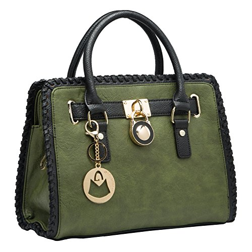 MG Collection TERRA Tote Style Stitched Edge Satchel Shoulder Bag