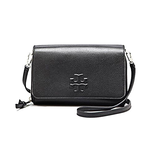 Tory Burch Thea Flat Wallet Crossbody in Black