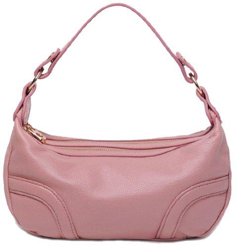 Heshe Women's Genuine Leather Classical Cross Body Shoulder Bag Satchel Tote Handbag