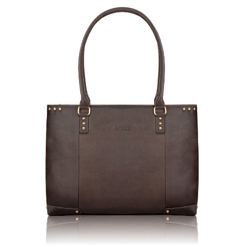 Solo Vintage Collection Women's Leather Carryall for Laptops up to 15.6 Inches, Dark Brown (VTA801)