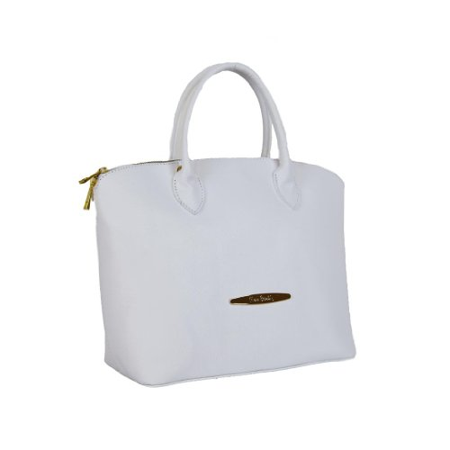 Pierre Cardin PC 1302 BIANCO Made in Italy Leather White Top Handle Satchel