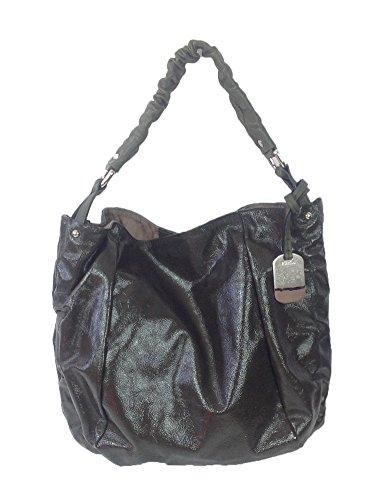 Furla Fortuny Meduim Patent Leather Hobo, Dark Olive