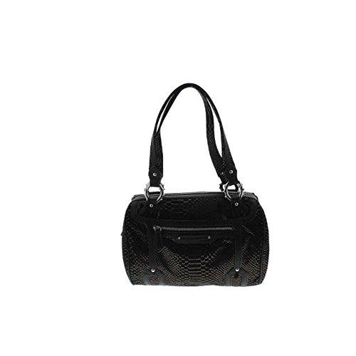 Aimee Kestenberg Womens Tessa Leather Metallic Satchel Handbag