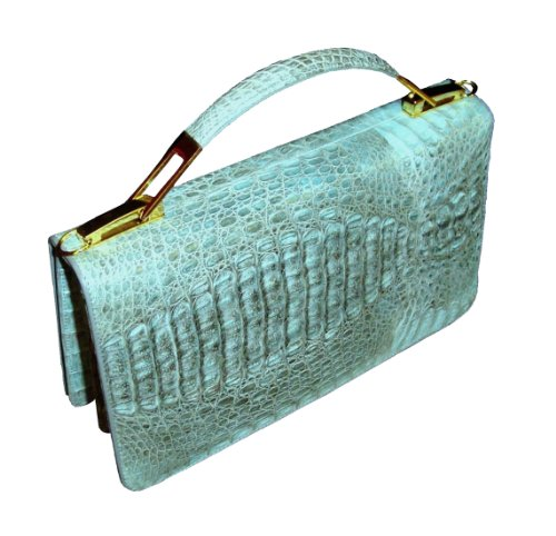 Sabrina – Genuine Crocodile Skin Clutch Handbag