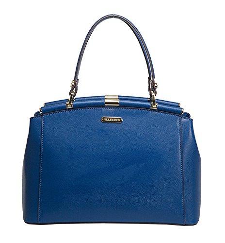 Mllecoco Double Handle Genuine Leather Mini Satchel Handbag
