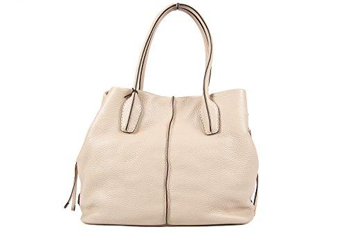 Tod's women's leather shoulder bag original dstyling beige