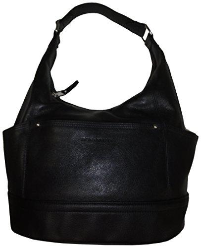 Tignanello Leather Purse Handbag Pretty Pockets Hobo Black