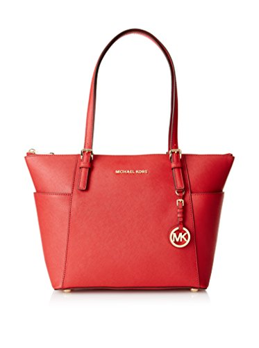 Michael Kors Handbag Jet Set East West Top Zip Tote Red