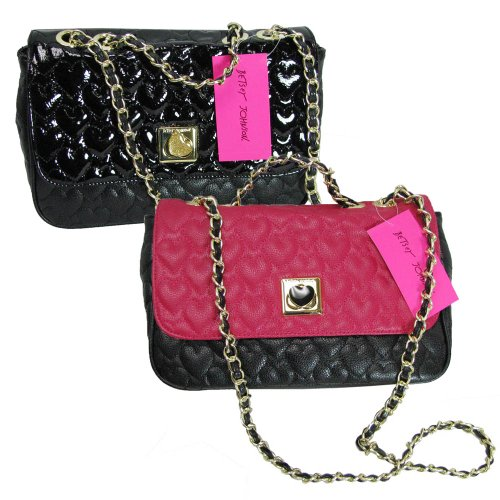 Betsey Johnson Womens Be My Wonderful Flapover Shoulder Bag