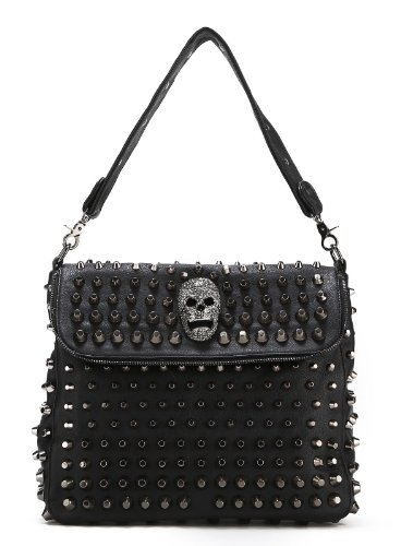 Scarleton Studded Skull Shoulder Bag H1417