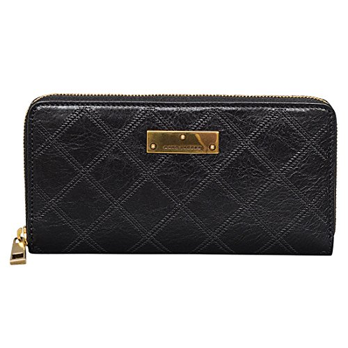 Marc Jacobs The Lads Deluxe Wallet in Black/Antique Gold