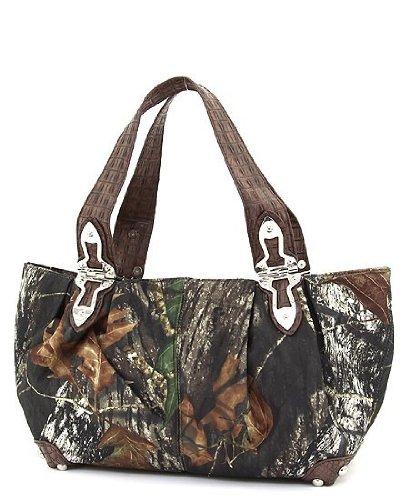 Mossy Oak Brown Camouflage Large Hobo Handbag