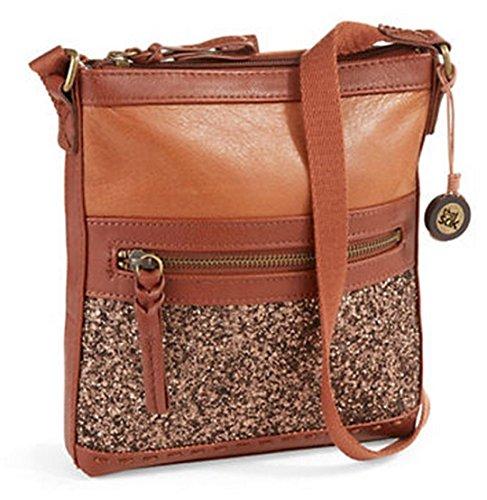 The Sak Pax Swing Pack Crossbody Bag (Brown Glitter)