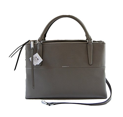 COACH The Borough Bag in Retro Glove Tanned Leather in Warm Grey 30348