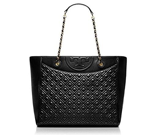 New With Tag Tory Burch fleming TOTE Black Handbag Bag Purse Retail Price $565