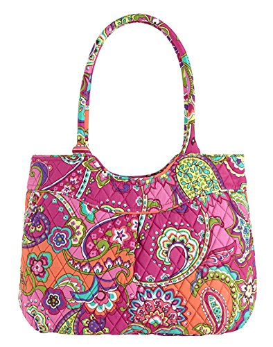 Vera Bradley Pleated Shoulder Bag (Pink Swirls)