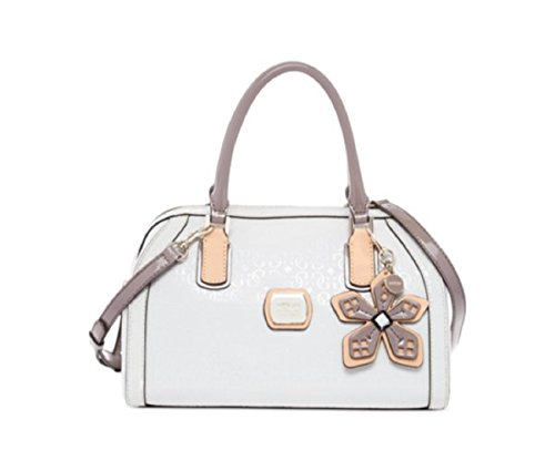 Guess Women's Hula Girl Box Satchel Handbag (white)