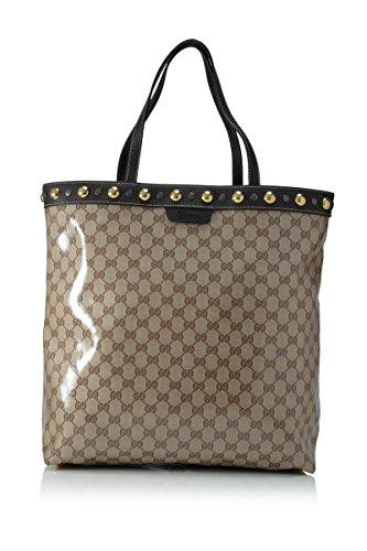 Gucci GG Crystal Coated Canvas Babouska Studded Tote Handbag