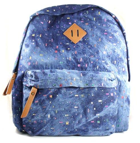 Steve Madden Handbag Navy Blue Denim Bskool Backpack