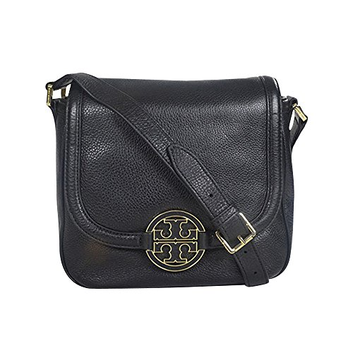 Tory Burch Womens Amanda Round Cross Body Bag, Black, One Size