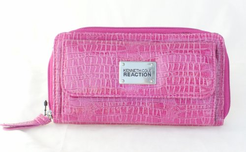 Kenneth Cole Reaction Pink Croco Urban Clutch Wallet