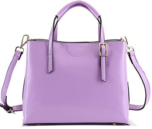 Heshe 100% New Genuine Leather Simple Style Fashion Women's Designer Tote Top Handle Cross Body Shoulder Bag Satchel Handbag
