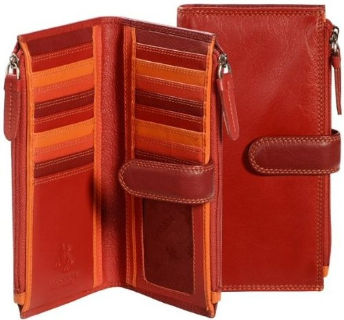 Visconti RB100 Multi Color Womens Soft Leather Bifold Wallet / Purse / Clutch