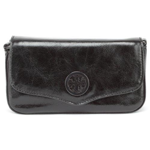Tory Burch Classic Black Leather Mini Cross-body Bag and Clutch