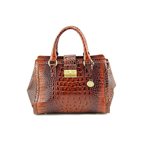 Brahmin Annabelle Womens Brown Purse Leather Satchel
