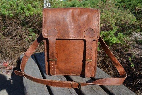 Komal's Passion leather 11″ Inch Ipad Messenger Satchel Purse Bag