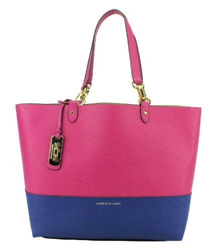 Lauren Ralph Lauren Bembridge II East West Tote Handbag, Pink Royal