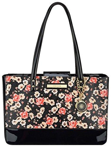 Anne Klein Pretty In Pink Floral Tote Handbag One Size Floral