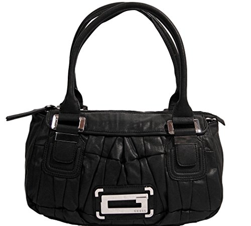 Guess Carnation Satchel Tote Hobo Handbag Bag Purse (Black)