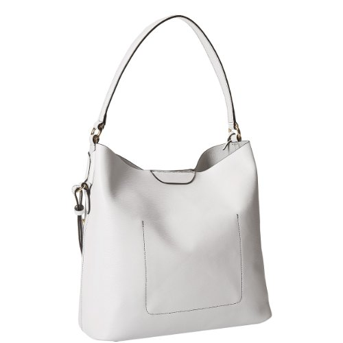 LAUREN by Ralph Lauren Women's Tate Hobo Optic White/Black