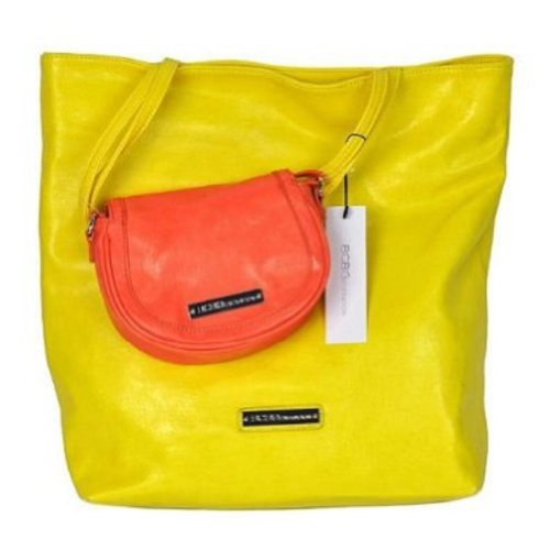 BCBGeneration Tote & Crossbody Duo – Yellow Flamingo & Orange