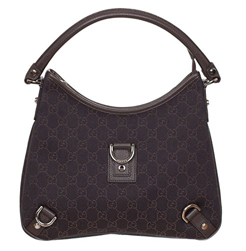 Gucci Women's Small Denim GG Guccissima D Ring Brown Purse Shoulder Bag