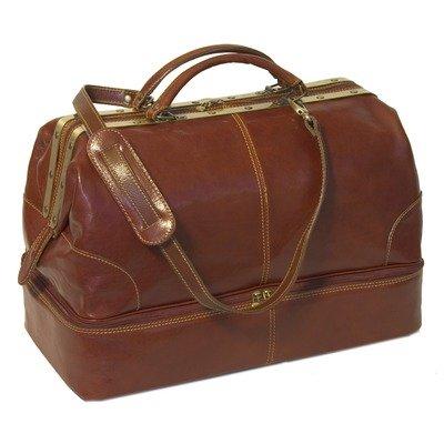 Floto Positano Grande Vecchio Brown Leather Luggage Travel Bag