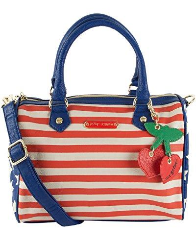 Betsey Johnson Americana Satchel Shoulder Bag – Blue