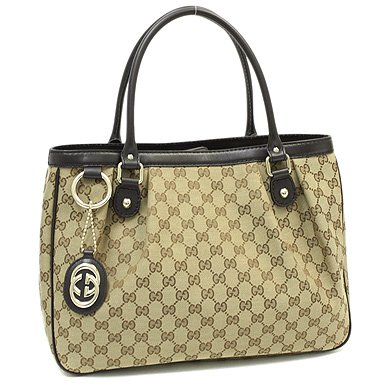 Gucci Beige Ebony Chocolate Monogram Leather Tote 296835fafxg New