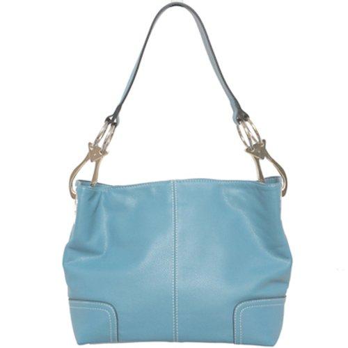 Tosca Classic Medium Shoulder Handbag,Medium,Light Blue