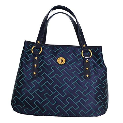 Tommy Hilfiger Womens Purse Shopper Handbag Blue