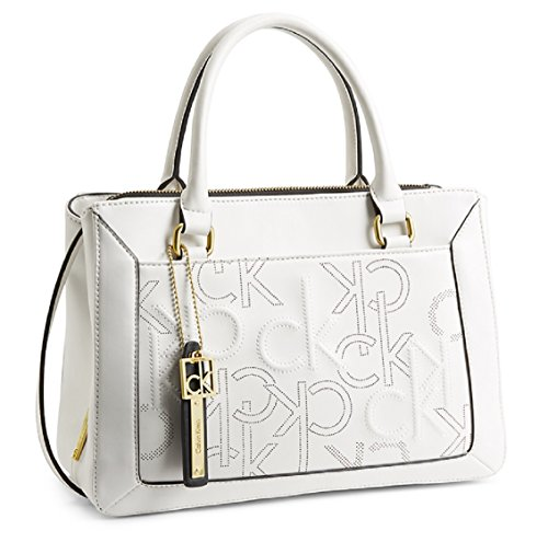 Calvin Klein Kenzie City Center Zip Carryall Bag Handbag (Silk)